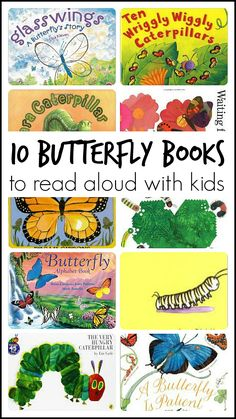 Collection of fun books to read aloud to kids . . . all about butterflies and caterpillars!