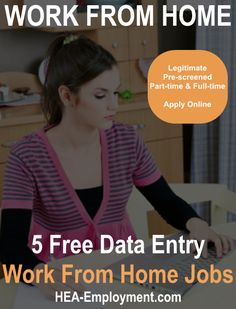 5 legitimate data entry work from home jobs available today. New data entry jobs are posted daily. Apply online and subscribe for new data entry jobs and updates. #workfromhome