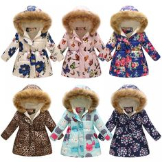 Hooded Girls Coat New Winter Tops Warm Kids Jacket Outerwear Children Clothing Flowers Long Girl Coats Manteau Fille We offers a wide selection of trendy style women's clothing. Affordable prices on new tops, dresses, outerwear and more. Girls Party Dress, Baby Girl Dresses, Baby Boy Outfits, Kids Outfits, Baby Girls, Kids Girls, Girls Coats & Jackets, Cute Jackets, Girls Winter Coats