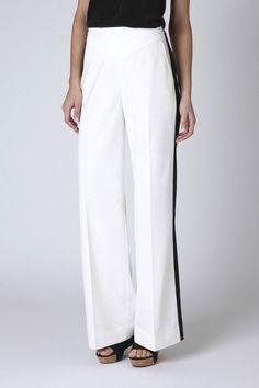 white tuxedo pants
