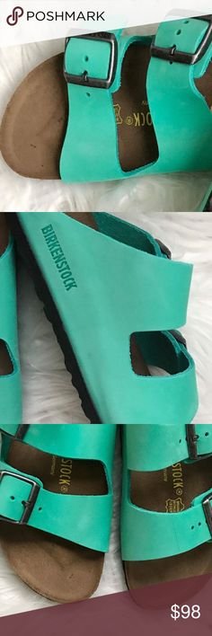 BNWT Birkenstock NUBUCK LEATHER MINT 40 N SOLD OUT EVERYWHERE & DISCONTINUED!  Amazing & trendy MINT color :)  These are so beautiful and originally $135. They are made of real nubuck/ leather. Brand new with tags and box, shoes are intact like in the store  Size 40 N width  * I only guarantee that I'm sending the stated size not how it will fit you.  Price is firm.   Thanks Birkenstock Shoes Sandals