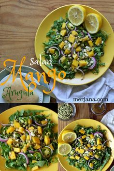 Arugula and Mango Salad Recipe with Pumpkin Seeds | Merjana