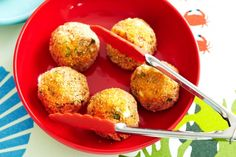 Here's a healthy take on meatballs - salmon balls. High in omega 3s, they're quick to make and super easy to eat!