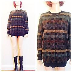 Vintage 90s grunge sweater / soft acrylic / by MainCourseVintage