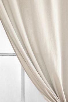 "Urban Outfitters Light Gray Linen Curtain 52"" x 84"""