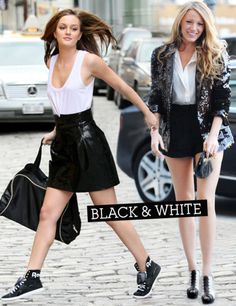 serena and blair gossip girl | ... White - Blair vs Serena : le match des looks des Gossip Girls - Grazia