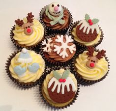 Christmas themed cupcakes, perfect for your festive buffets or as a gift for friends and family!  Deliveries made in Leek & Stoke area, see website for details !