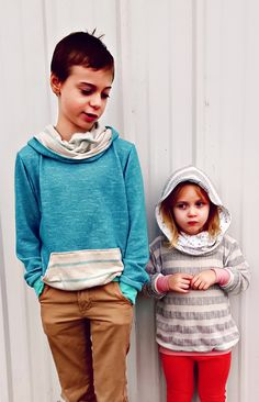 Super comfy and oh so cosy, this childs unisex hoodie pattern has an optional front pocket and is perfect for both boys and girls. Includes sizes newborn to 12 years.