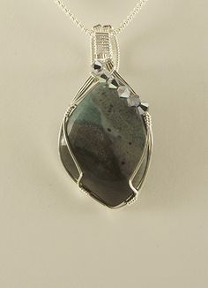 Landscape Jasper Designer Pendant Wire Wrapped Sterling Silver | JudyCogoDesigns - Jewelry on ArtFire