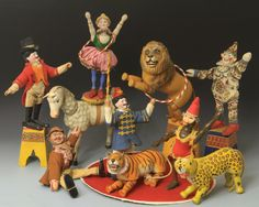 Schoenhut Circus Animals and Performers.