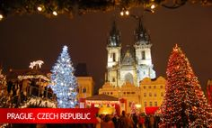 Prague's old world architecture give its' holiday decorations an especially charming ambience. #USAATravel #USAAShopping
