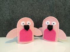 Flamingo finger puppets Felt bird finger by BirdBirdHandmade