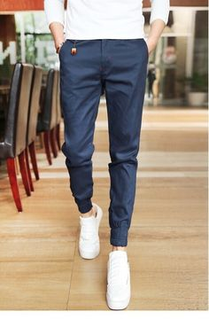 64aeae3f92 2017 Jogger Fashion Fit Mens Casual Pants New Design Business Trousers High  Quality Cotton Pants Free Shipping-in Harem Pants from Men s Clothing ...