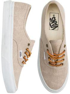 Vans Authentic Slim Shoe, perfect for work. Vans Authentic, Vans Authentiques, Tan Vans, Vans Sneakers, White Sneakers, Converse, Cute Shoes, Me Too Shoes, Men's Footwear