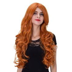 Women Long Curly Hair Full Wigs Cosplay Party Wavy Wig Halloween Christmas Anime -- Awesome products selected by Anna Churchill