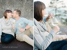 make your portrait session personal by doing things you love, like drinking wine ;) vancouver portrait photographer available for couple, family, maternity, and newborn portraits.  Images by Bethany | a boutique photography studio