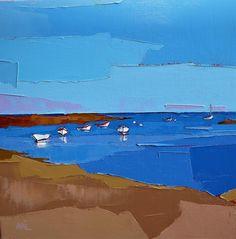 françoise Papail Seascape Art, Abstract Landscape Painting, Landscape Paintings, Abstract Art, Arcadia National Park, National Parks, Knife Art, Sea Art, Learn To Paint