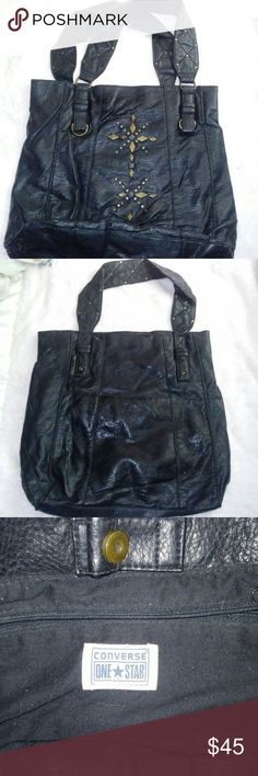 Converse One Star Women's Leather Purse pre-owned good condition Converse Bags Shoulder Bags