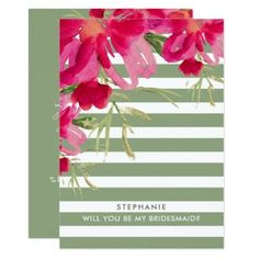 Will you be my Bridesmaid? Custom Invitations - romantic wedding love couple marriage wedding preparations #romanticgifts