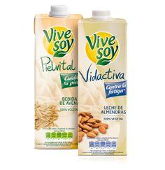 Nuevas bebidas, Vivesoy Pielvital (bebida de Avena) y Vivesoy Vidactiva (leche de almendras), que convierten nuestra marca en experta de lo vegetal.
