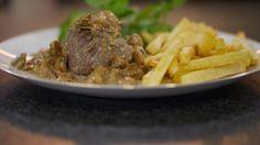 Eén - Dagelijkse kost - steak-friet met champignonroomsaus