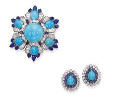 View high resolution                                                               Brooch and Earrings Harry Winston Christie's