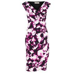 Buy Planet Floral Print Shift Dress, Cerise Online at johnlewis.com