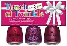 China Glaze Touch of Twinkle Set from the Happy HoliGlaze Collection! (Click through to see the press release & more promo pictures!)