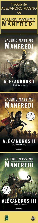 """...el núm. 110. Trilogía de Manfredi sobre 'Alejandro'. Manfredi nos narra la vida del conquistador macedonio y la serie está compuesta por los siguientes títulos: -- El hijo del sueño. -- Las arenas de Amón. -- El confín del mundo. Para los que gusten de la historia en plan """"""""hollywoodiense"""" les encantará. Los buenos son buenísimos y los malos... los malos da igual porque van a perder."""