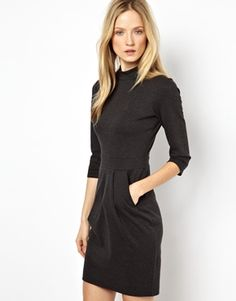 Karen Millen Luxe Sweatshirt Dress