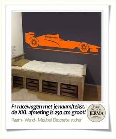 snelle F1 raceauto een simpele manier om je kamer om te toveren in een supersnelle F1 race thema. zal het in je kamer op b.v. je deur heel goed doen.En met de n