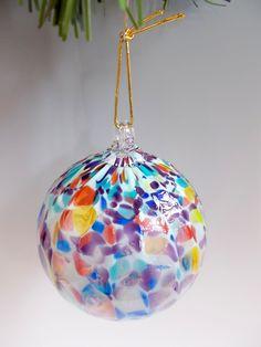 Large Blown Glass Balls | Hand Blown Art Glass Christmas Ball by providenceartglass on Etsy