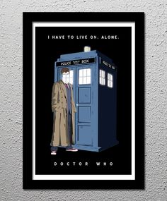 Doctor Who 10th Dr David Tennant Tardis by CultClassicPosters, $20.00