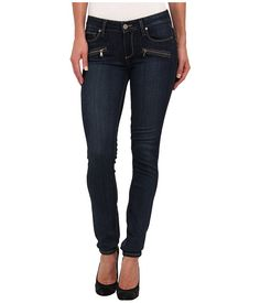 Paige Indio Zip Ultra Skinny in Vista No Whiskers