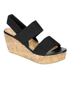 Loving this Black Ruthie Wedge Sandal on #zulily! #zulilyfinds