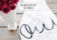 Hand Painted Tea Towel- a perfect Gift for the Hostess with the mostess! Espicaly in Spring!