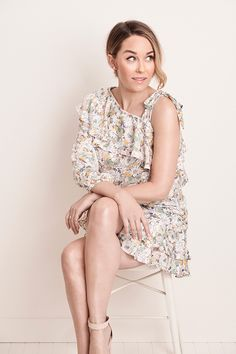 lauren conrad hair The freshest spring looks yet Lauren Conrad Hair, Lauren Conrad Style, Lauren Conrad Collection, One Shoulder Tops, Best Wear, Spring Looks, Ruffle Skirt, Fashion 2020, Trending Outfits