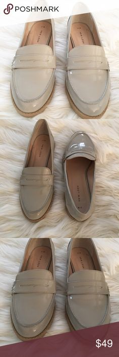 Adorable patent leather loafers Excellenr condition. Well made in neutral taupe/nude color. Shoes Flats & Loafers