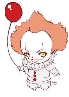 Sketchtember - Day 23   Pennywise, from the movie... - I am Tabby Chan