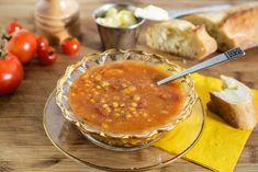 Soupe-repas tomates, orge et haricots blancs