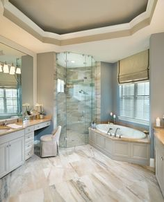 Rutenberg - Melbourne Luxury Designer Home - Bathroom - glass walk in shower - amazing floor tile By Arthur Rutenberg Homes