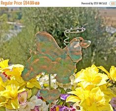 Cocker Spaniel Garden Stake - Metal Yard Art - Garden Art - Dog Angel – Copper Art – Pet Memorial – Grave Marker -– Home Decor – Patina