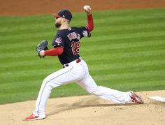 Kluber throws the first pitch of the 2016 World Series Indians won World Series 2016, Cleveland Indians Baseball, Game 1, Chicago Cubs, Baseball Field, Memories, Play, Celebrities, Celebrity