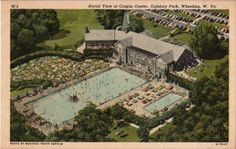 wheeling park old swimming pool wv Virginia Homes, West Virginia, Vintage Swim, Train Pictures, Beautiful Ocean, Take Me Home, The Good Old Days, Aerial View, Paris Skyline
