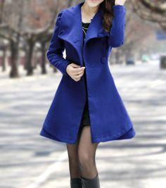 Women's Winter Coats Blue Jackets Wool Capes by dresstore2000, $169.00