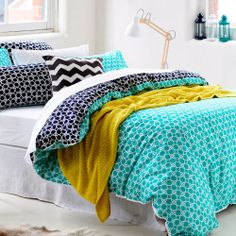 Home Republic Kelsey Blue Patterned Quilt Cover Also In Yellow/grey From  Http:/. Bedroom InspoBedroom IdeasQuilt ...