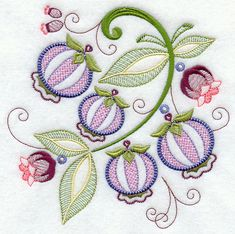 Jacobean Embroidery Patterns | This light, delicious take on Jacobean embroidery will be gorgeous on ...