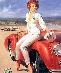 pin up girl/ sexy car