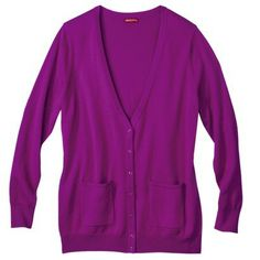 Target MERONA® WOMEN'S PLUS-SIZE CASHMERE BLEND CARDIGAN SWEATER W/POCKETS
