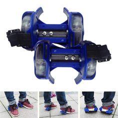 Pair Light Flashing Roller Small Wheels for Children